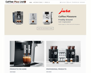 Jura Coffee Plus - Ecommerce Website